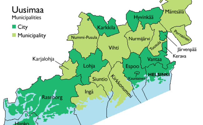 Regions Of Southern Finland Wikipedia