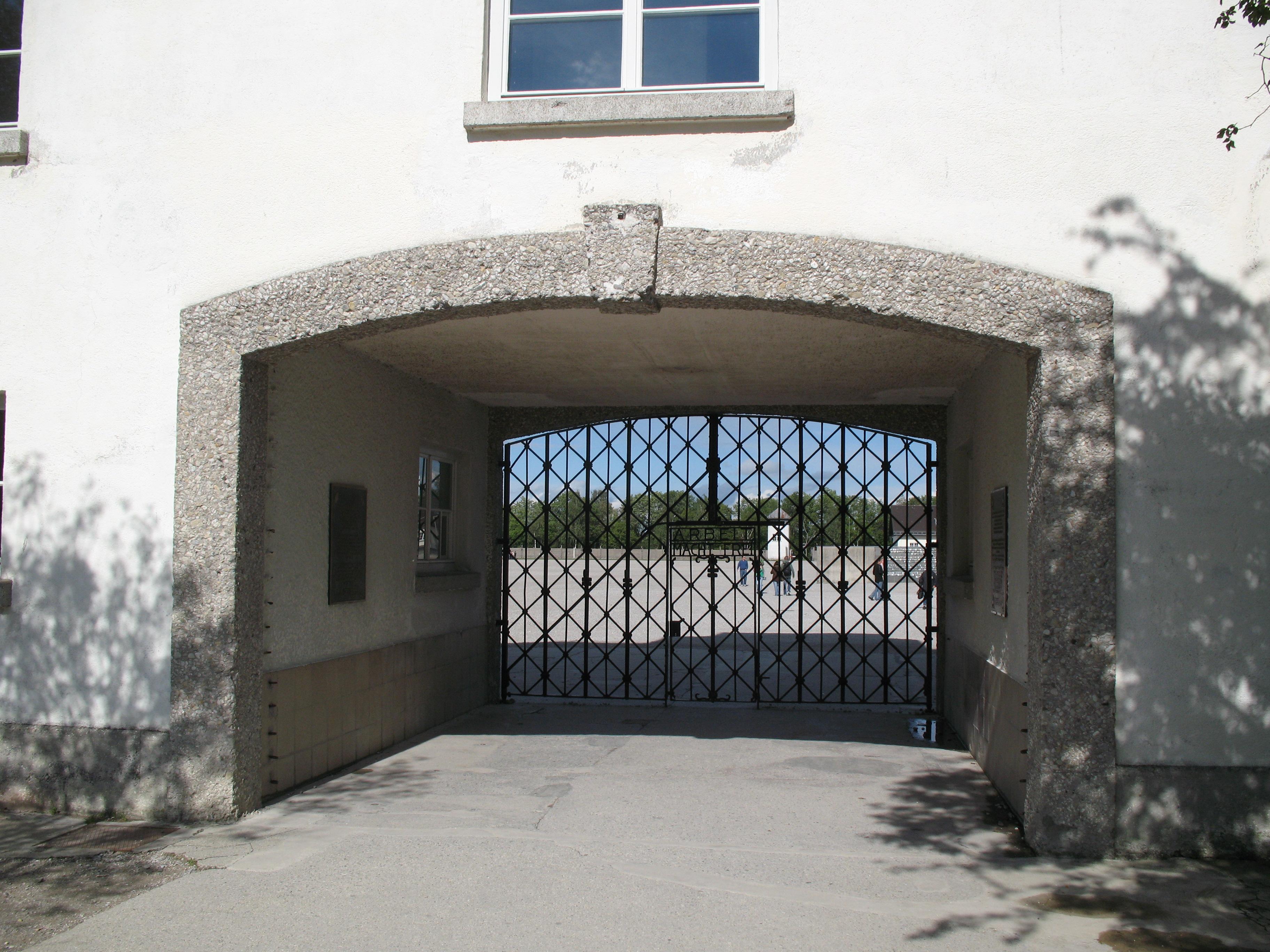 Entry gate, Dachau Concentration CampDachau, G...