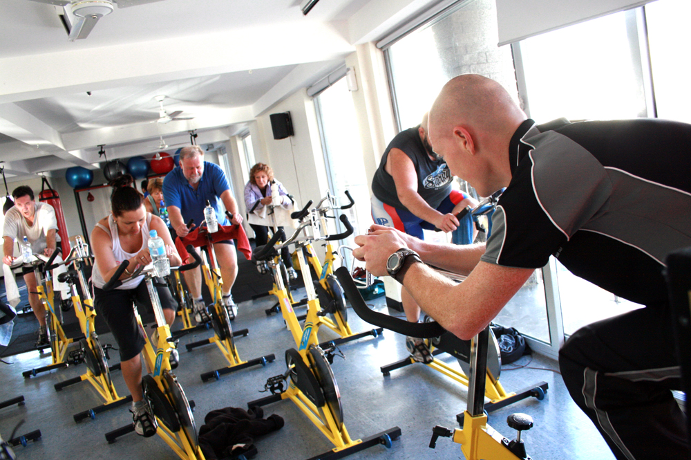 Gym scene.