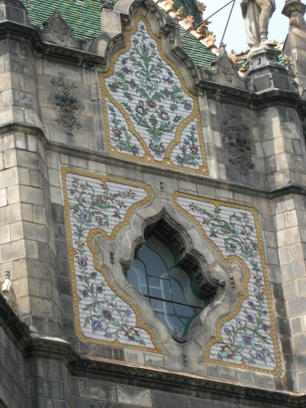 File Ceramic Tiles. Front Of Main Dome Budapest Museum Applied Arts