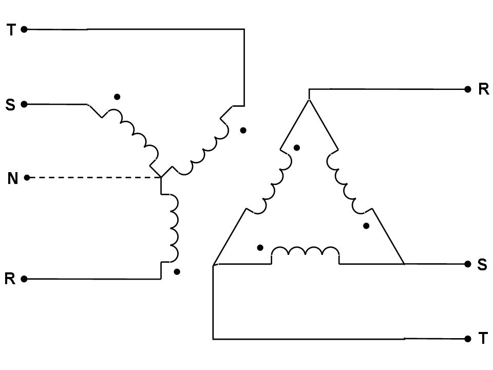 240v 3 phase 4 wire diagram
