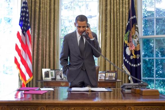 Obama calling Giunta