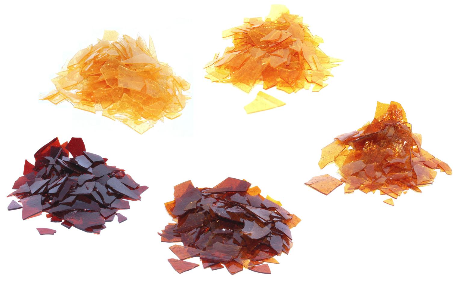 Amber Shellac Flakes