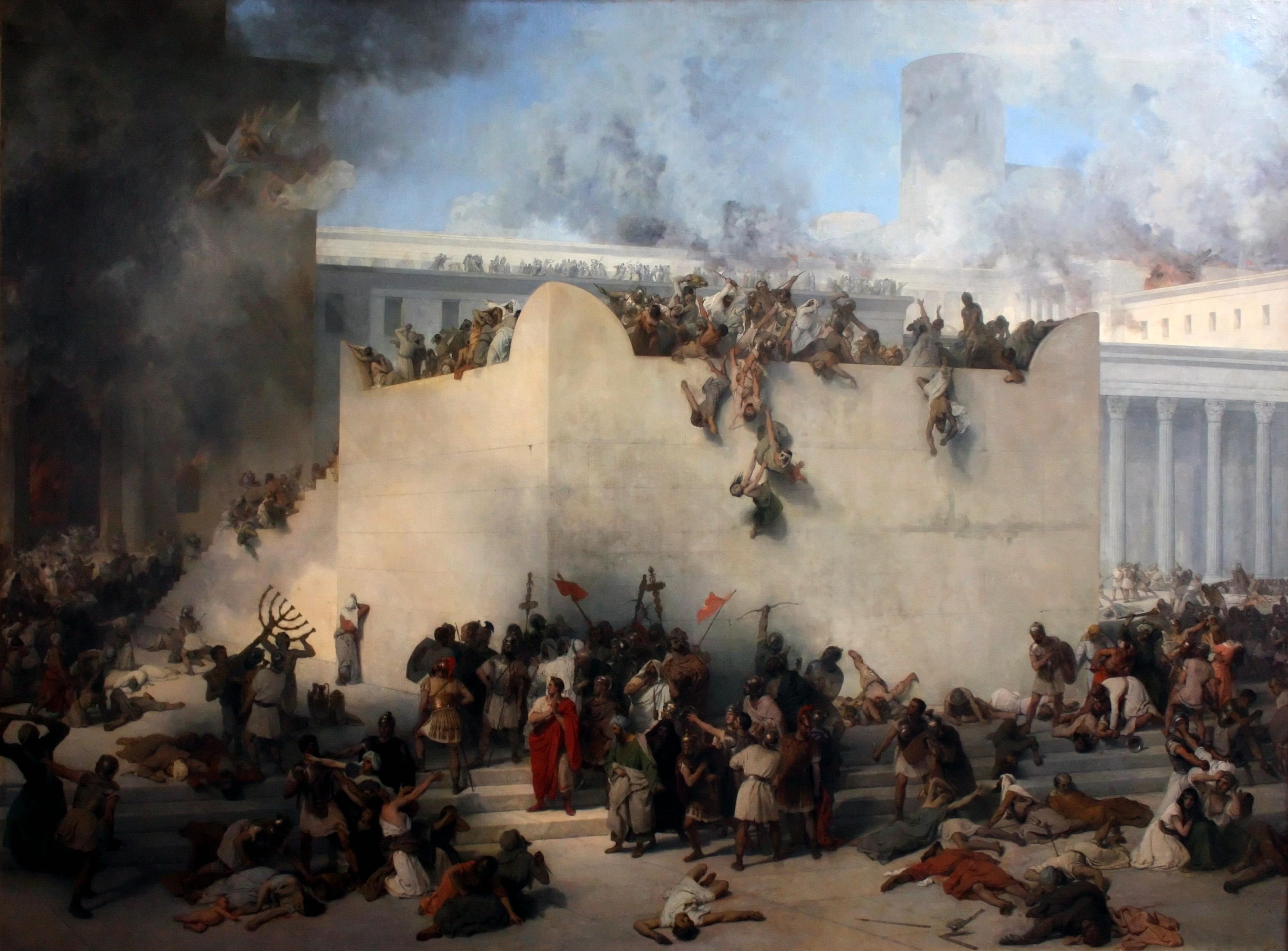 Francesco Hayez - Distruzione del tempio di Gerusalemme - 1867
