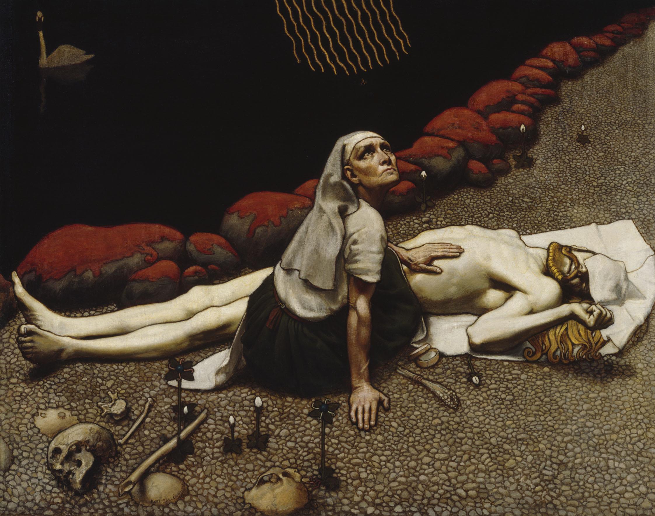 De moeder van Lemminkainen (Gallen-Kallela)