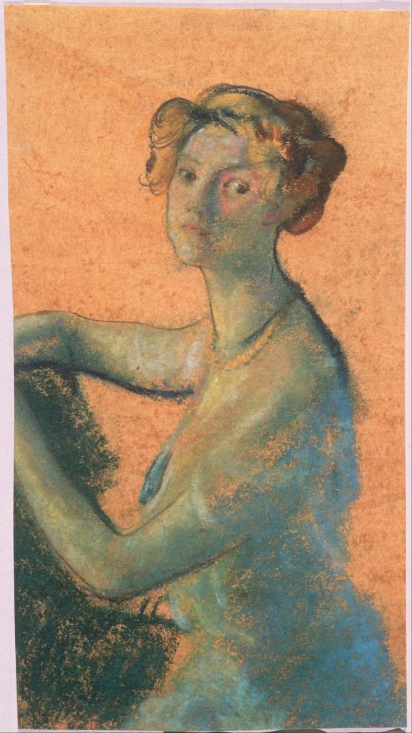 File Arthur . Davies - Woman With Orange Background