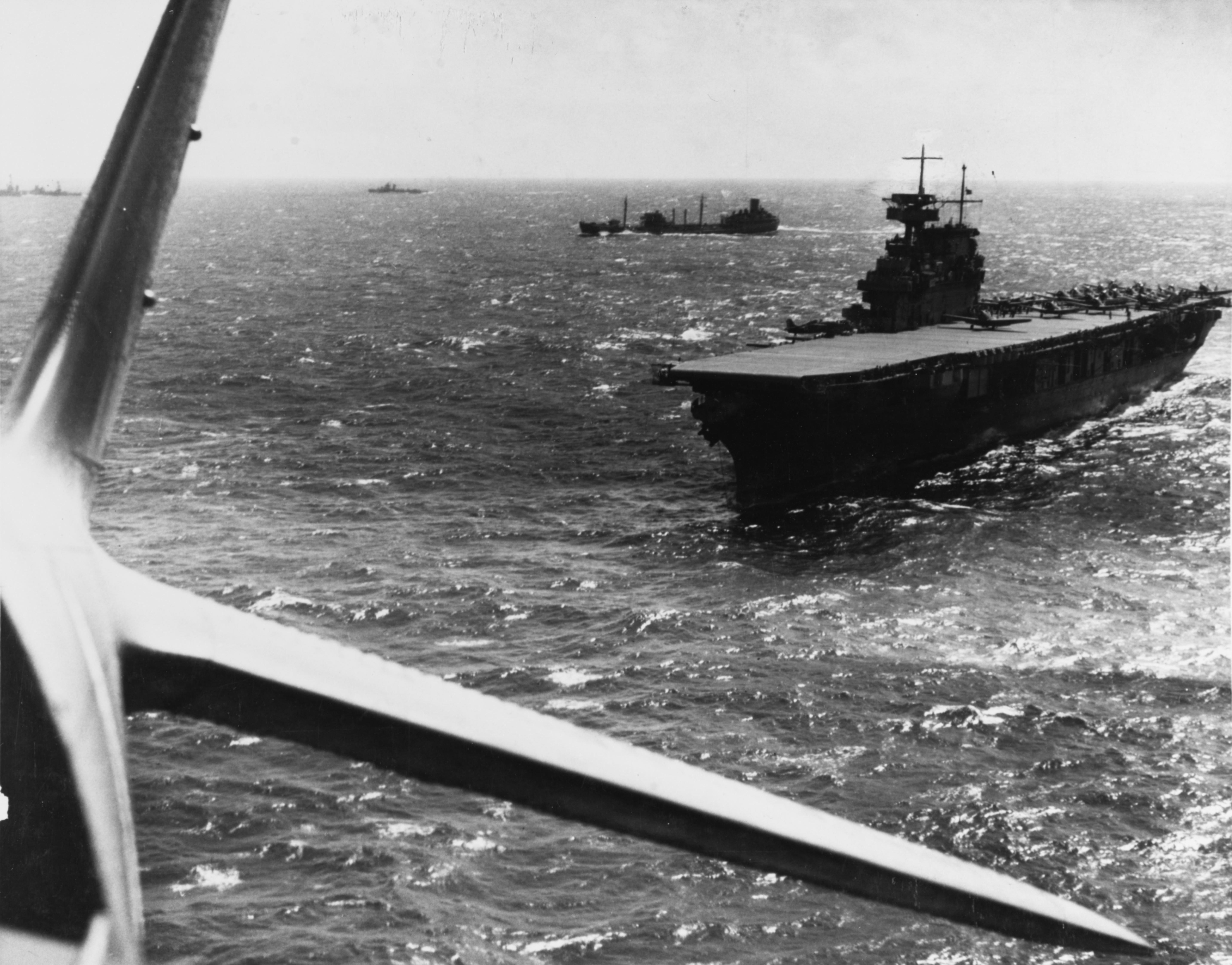 File:USS Yorktown (CV-5) during the Battle of the Coral Sea, April 1942.jpg