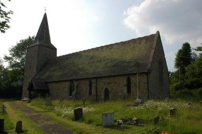 St John the Baptist's parish church, Nash, Shropshire, seen from the southeast