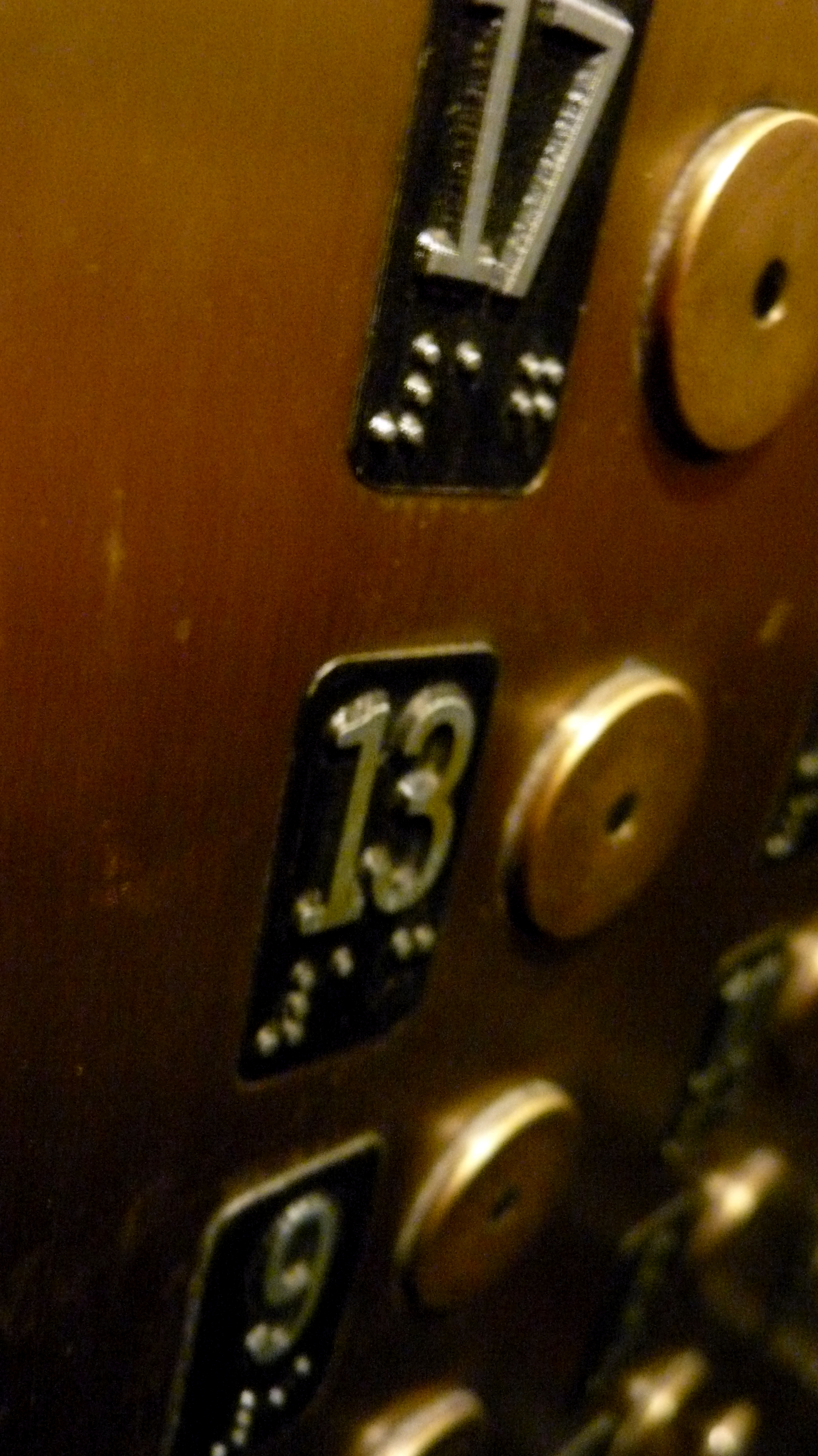 File13th Floor button elevator Flatiron Buildin NYC