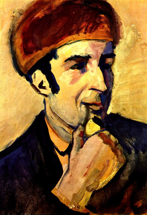 August Macke Portrait of Franz Marc