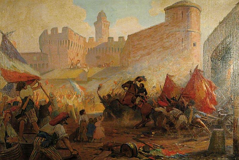 File:H P Perrault Prise de la Bastille (painted 1928).jpg