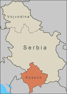 Kosovo position within Serbia