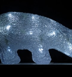 plastic polar bear with led lights [ 4685 x 2637 Pixel ]