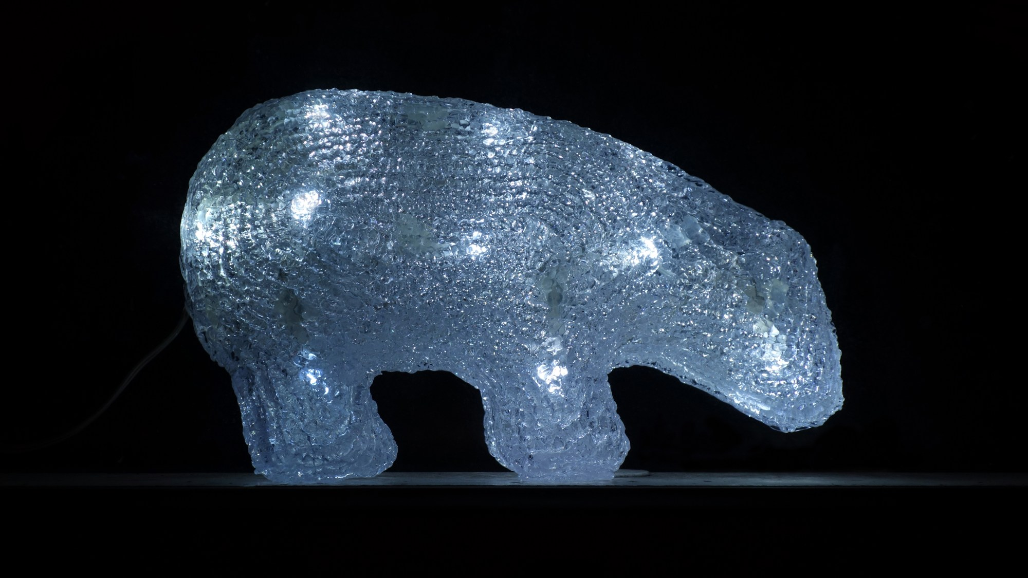 hight resolution of plastic polar bear with led lights