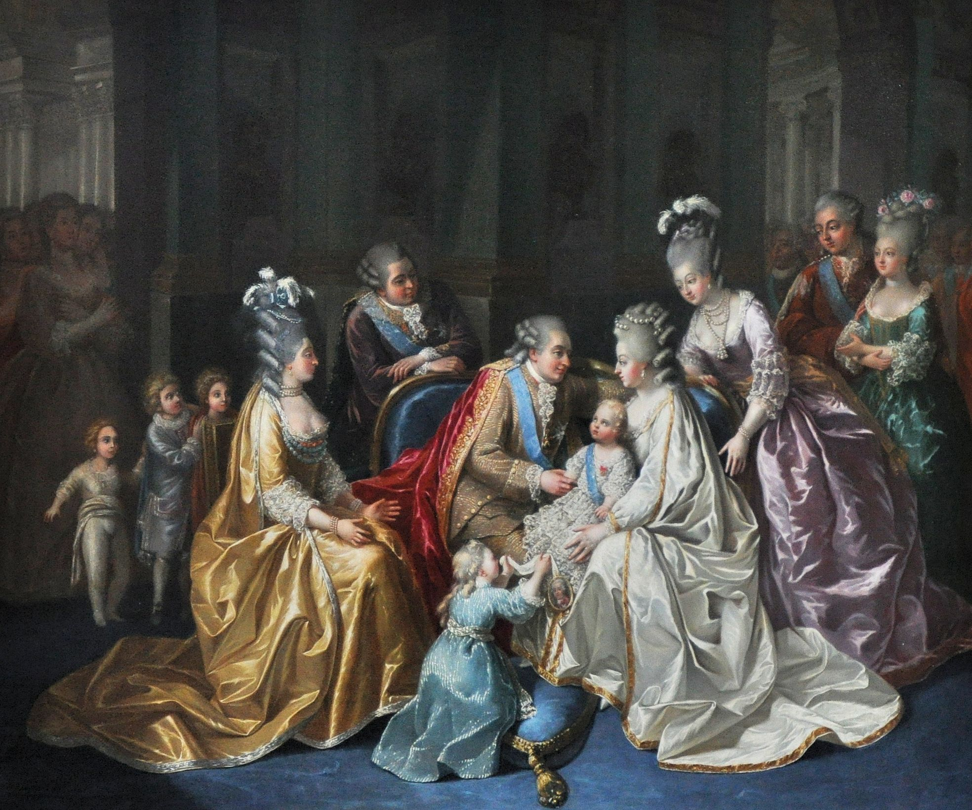 File The French Royal Family In Anonymous Artist
