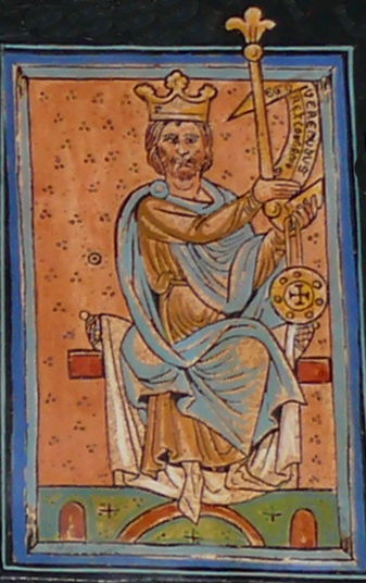 King Vermudo II of León and Galicia, as depicted in the 12th-century Libro de las Estampas