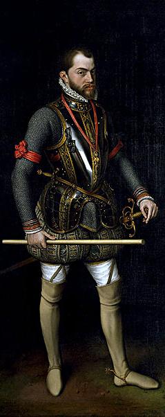 Español: Retrato de Felipe II de España por An...