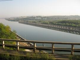 Danube River - Black Sea Channel seen from Cernavoda   Going to Constanta in Romania