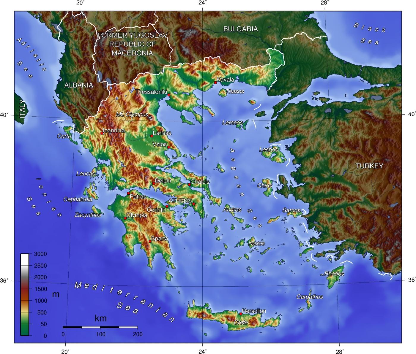 geography of greece wikipedia