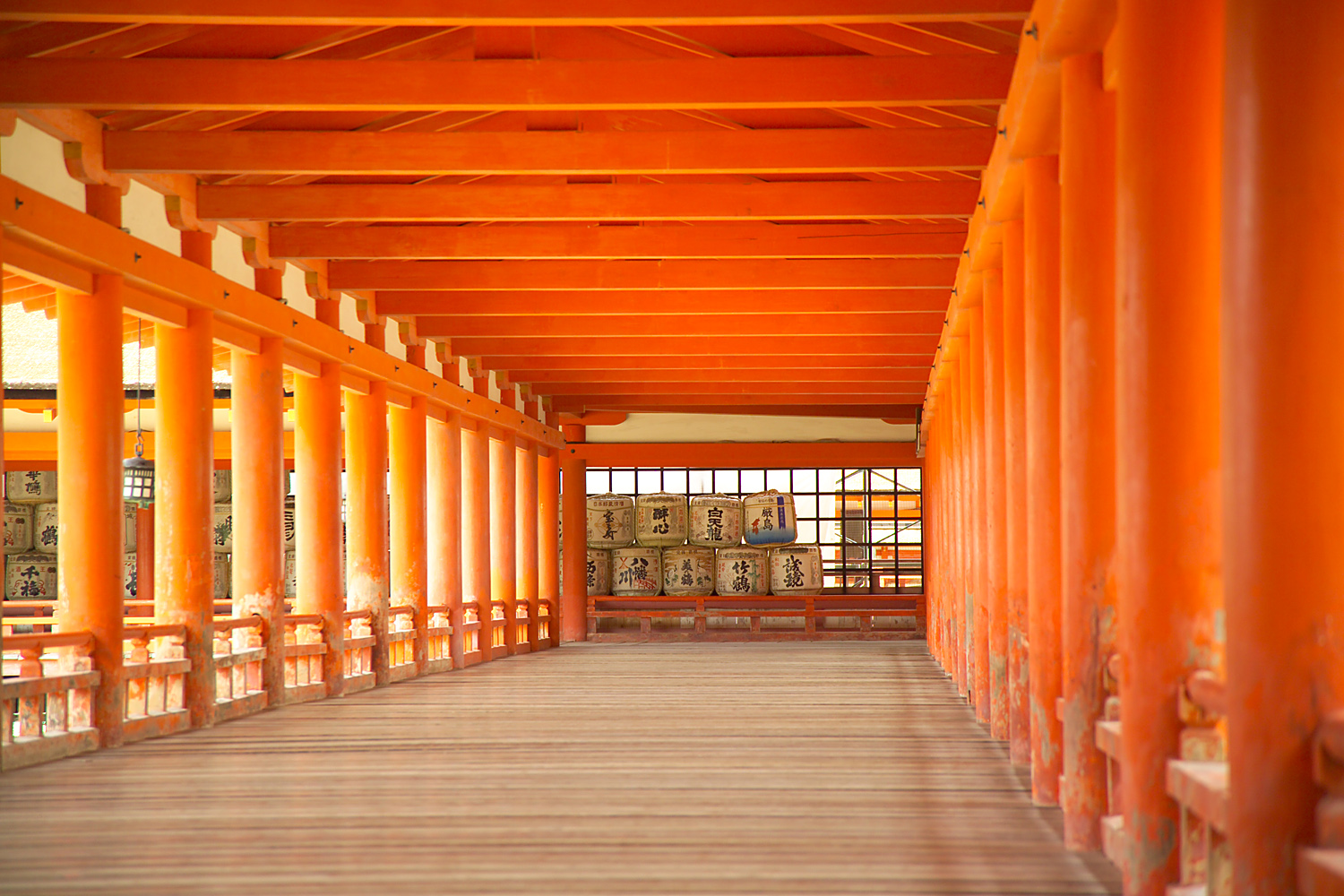 Passageway at Itsukushima Shrine