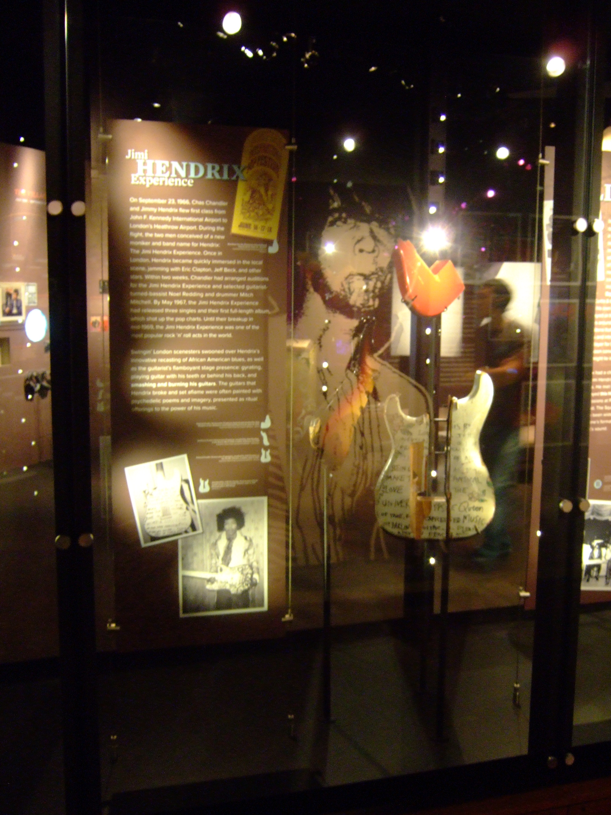 FileJimi Hendrix smashing guitar pieces rear EMP