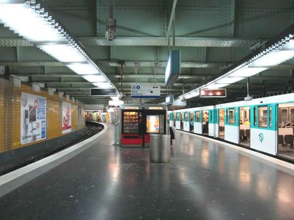 Paris Nation Metro Station