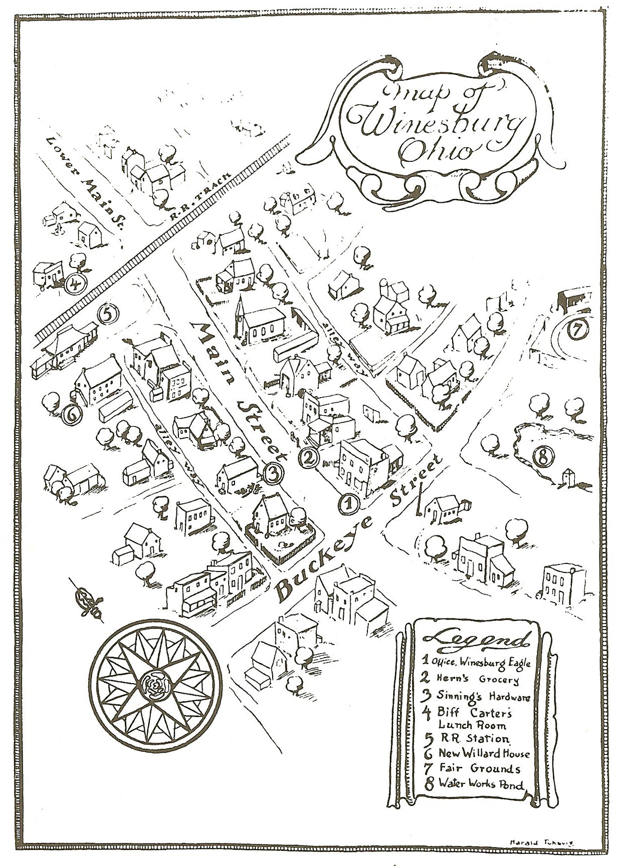 File Map Of Fictional Winesburg Ohio