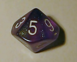10-sided dice are used for games requiring per...
