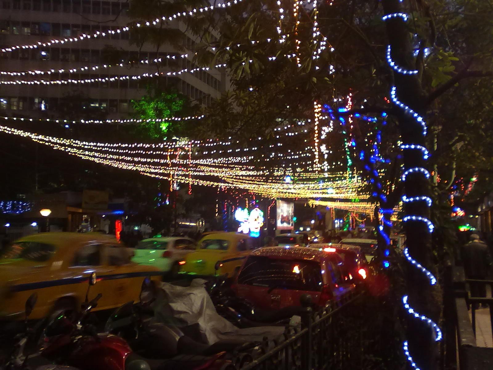FileChristmas Lights Park Street Kolkatajpg  Wikimedia