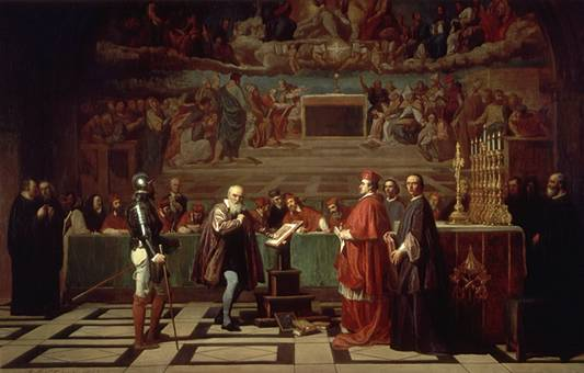 Ficheiro:Galileo before the Holy Office.jpg
