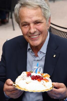 Giuliano Gemma in 2008, celebrating his 70th b...