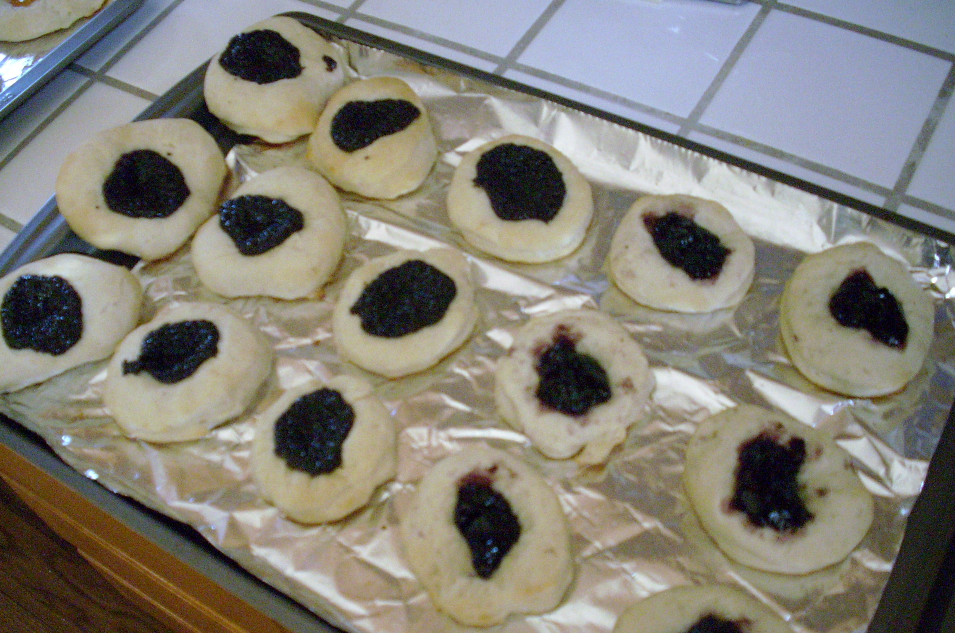 kolaches with poppyseed and blueberry filling