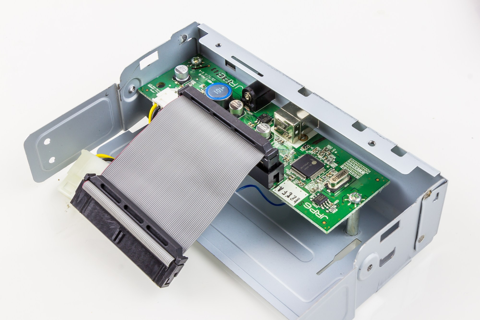 hight resolution of it is mounted on the rear of a dvd rw optical drive inside an external case