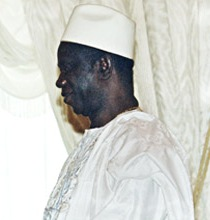English: Guinea's President Lansana Conté duri...