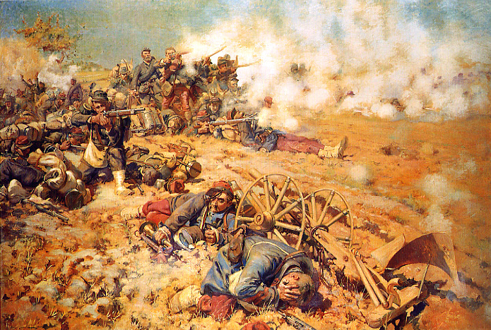 One of the battles (with Mars-la-Tour), the Franco-Prussian War in August 1870.