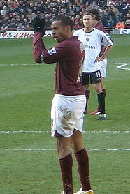 Thierry Henry, playing for Arsenal against Cha...