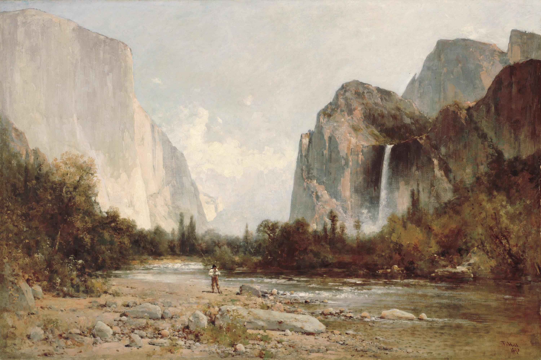 Yosemite Falls Wallpaper File Thomas Hill Yosemite Bridal Veil Falls Jpg