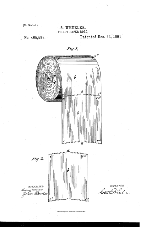 small resolution of file toilet paper roll patent us465588 0 png