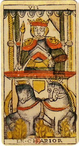 English: An original card from the tarot deck ...