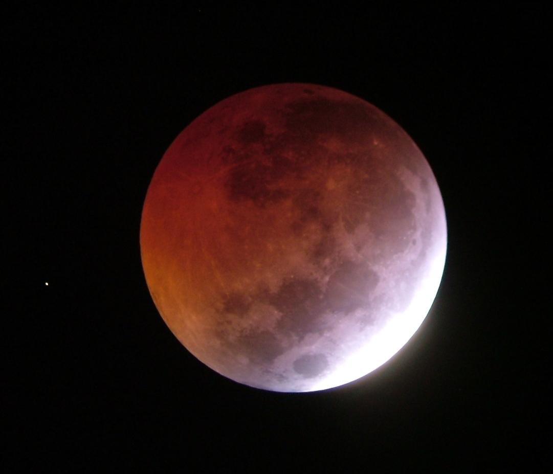 La luna vista desde mi ventana