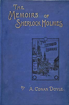 Cover of 'The Memoirs of Sherlock Holmes', 1894 (Wikimedia Commons)