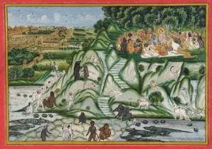 Rama preparing for war against Ravana