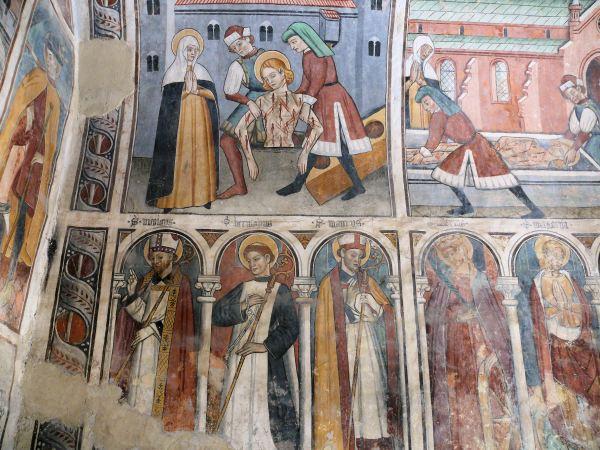 French Late Gothic Frescos