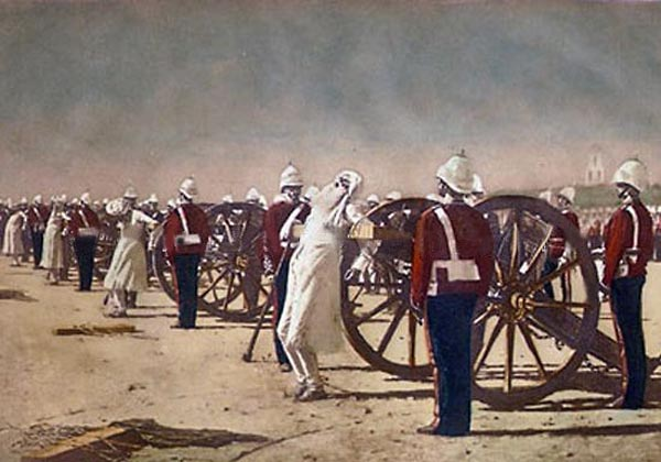 "Painting  by V.Vereshchagin ""suppression by the British Indian Rebellion"", 1884."
