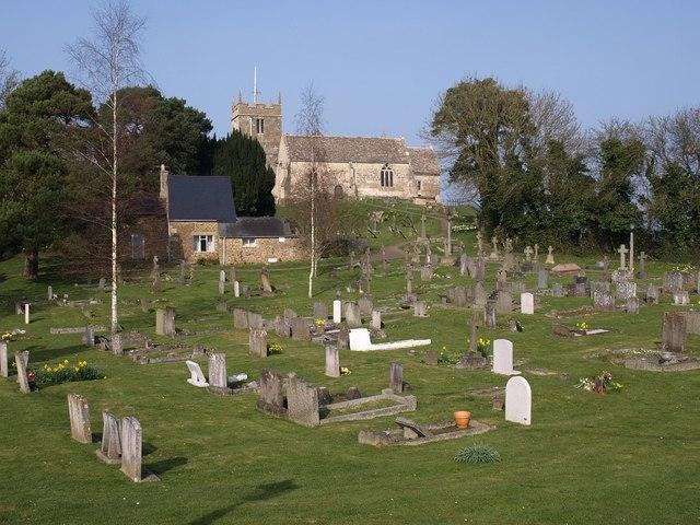 Churchyard and church, Chosen Hill