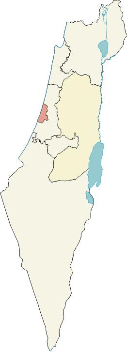 en: Map of Tel Aviv District within Israel. De...