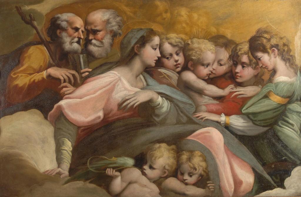Sposalizio mistico di santa Caterina Parmigianino  Wikipedia