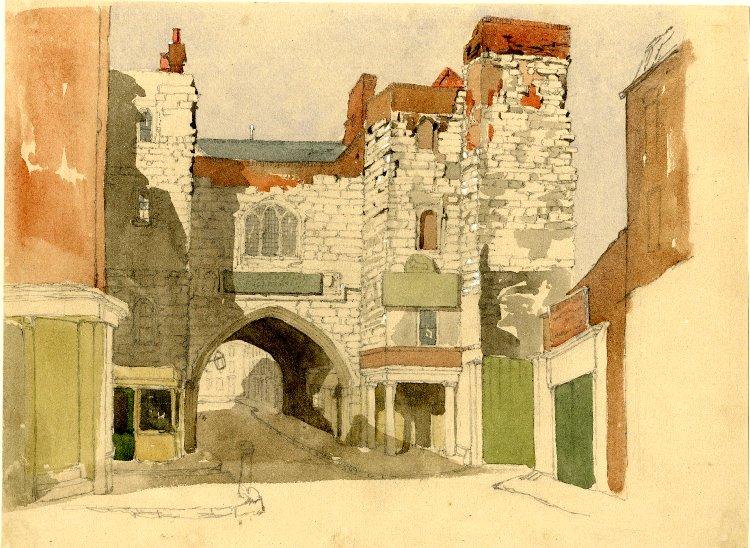 File:St John's Gate Clerkenwell by John Wykeham Archer.jpg