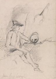 Thomas Gainsborough - Man Holding a Claude Glass