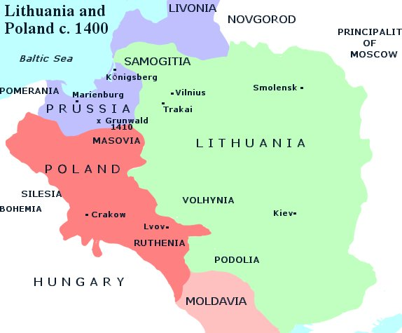 FileMap of Lithuania and Poland c 1400jpg Wikimedia